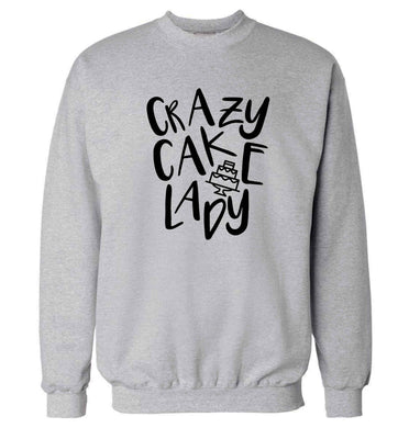 Crazy cake lady Adult's unisex grey Sweater 2XL