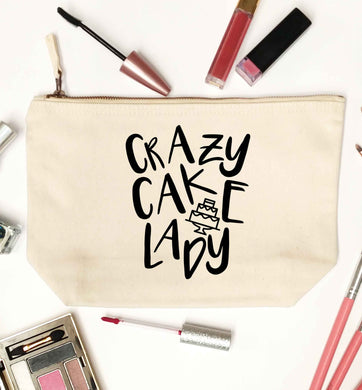 Crazy cake lady natural makeup bag