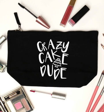 Crazy cake dude black makeup bag