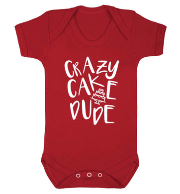 Crazy cake dude Baby Vest red 18-24 months