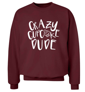 Crazy cupcake dude Adult's unisex maroon Sweater 2XL