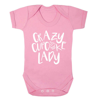Crazy cupcake lady Baby Vest pale pink 18-24 months