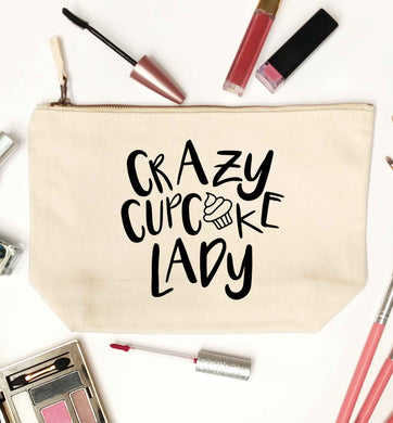 Crazy cupcake lady natural makeup bag