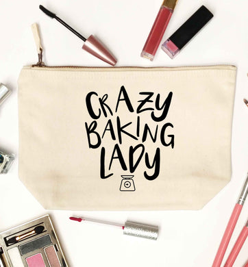 Crazy baking lady natural makeup bag