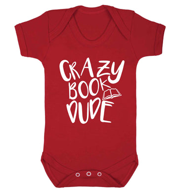 Crazy book dude Baby Vest red 18-24 months
