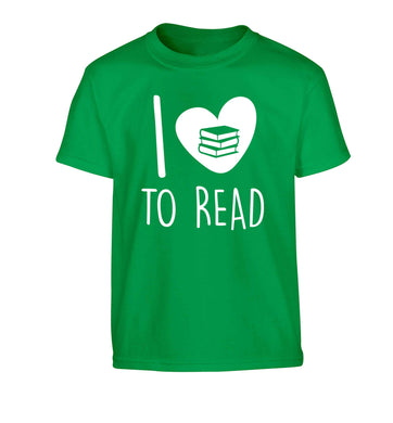 I love to read Children's green Tshirt 12-13 Years