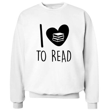 I love to read Adult's unisex white Sweater 2XL