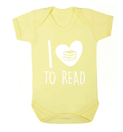 I love to read Baby Vest pale yellow 18-24 months