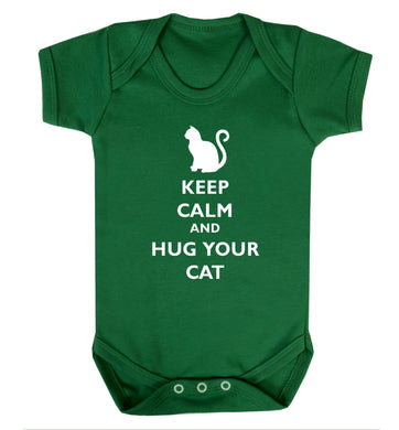 Keep calm and hug your cat Baby Vest green 18-24 months