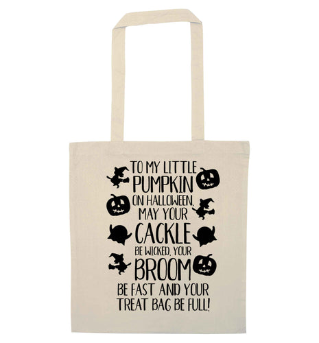 To my Little Pumpkin natural tote bag