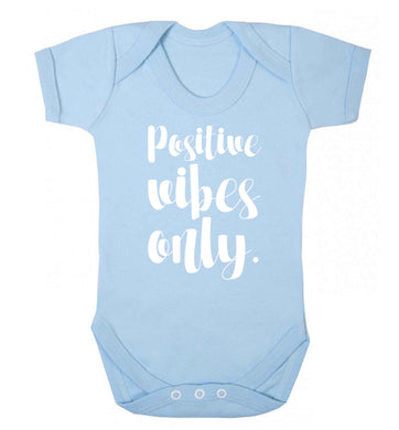 Positive vibes only Baby Vest pale blue 18-24 months