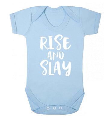 Rise and slay Baby Vest pale blue 18-24 months