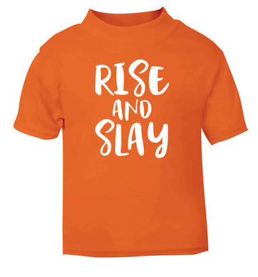 Rise and slay orange Baby Toddler Tshirt 2 Years
