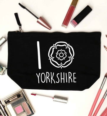 I love Yorkshire black makeup bag
