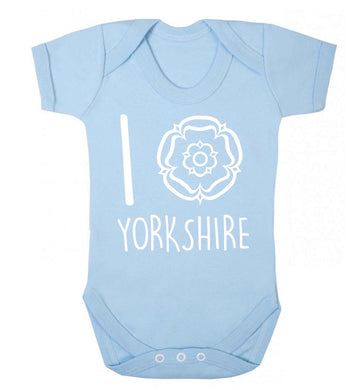I love Yorkshire Baby Vest pale blue 18-24 months