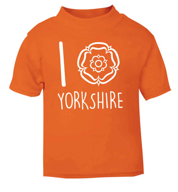 I love Yorkshire orange Baby Toddler Tshirt 2 Years
