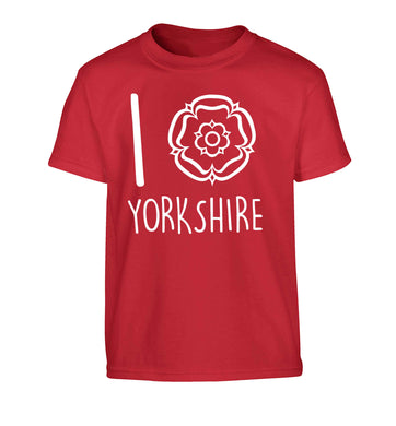 I love Yorkshire Children's red Tshirt 12-13 Years