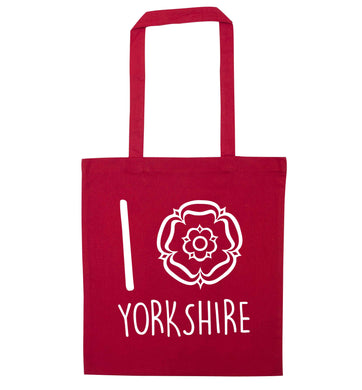 I love Yorkshire red tote bag