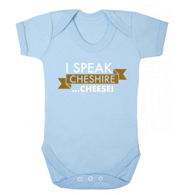 I speak Cheshire cheese Baby Vest pale blue 18-24 months