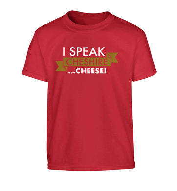 I speak Cheshire cheese Children's red Tshirt 12-13 Years