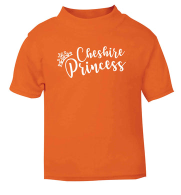 Cheshire princess orange Baby Toddler Tshirt 2 Years