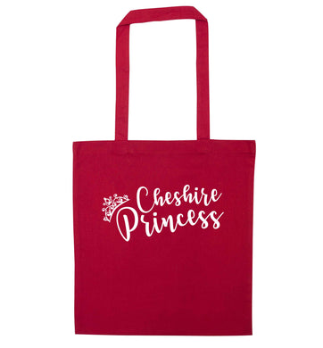 Cheshire princess red tote bag