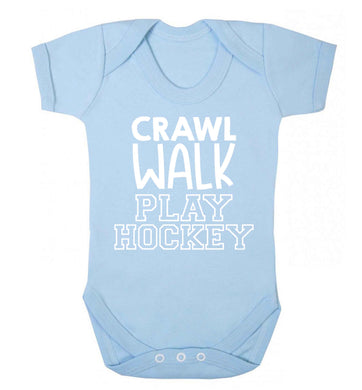 Crawl walk play hockey Baby Vest pale blue 18-24 months