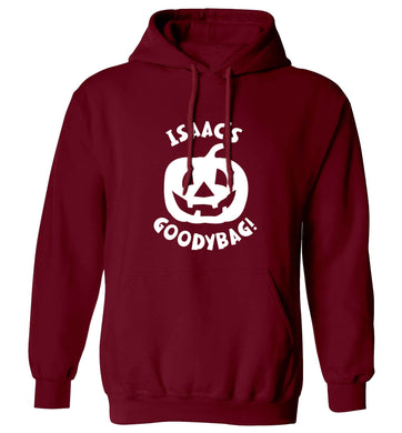 Pumpkin on Way adults unisex maroon hoodie 2XL
