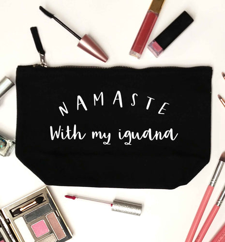 Namaste with my iguana black makeup bag