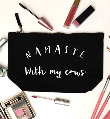 Namaste with my cows black makeup bag