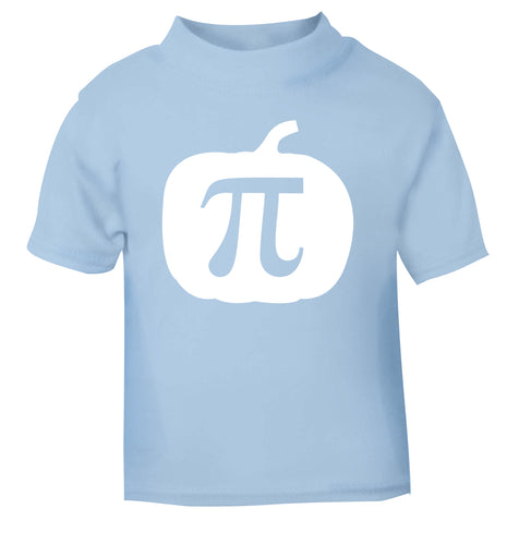 Pumpkin Pi light blue Baby Toddler Tshirt 2 Years