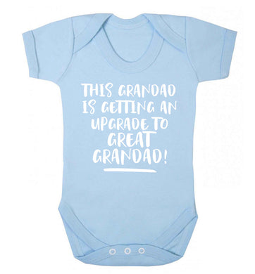This grandad is getting an upgrade to great grandad! Baby Vest pale blue 18-24 months