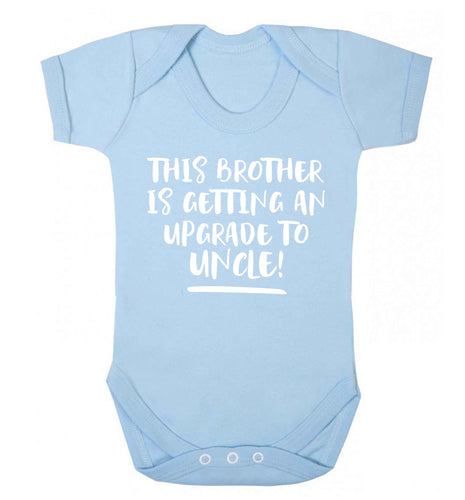 This brother is getting an upgrade to uncle! Baby Vest pale blue 18-24 months