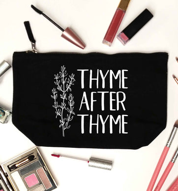 Thyme after thyme black makeup bag