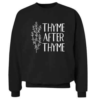 Thyme after thyme Adult's unisex black Sweater 2XL