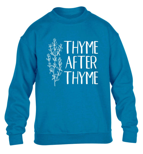 Thyme after thyme children's blue sweater 12-13 Years