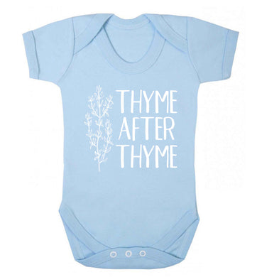Thyme after thyme Baby Vest pale blue 18-24 months