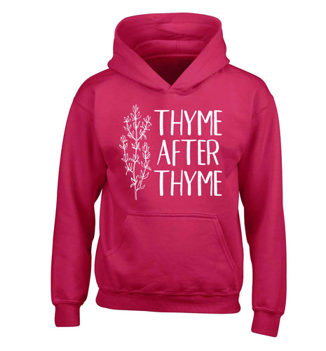Thyme after thyme children's pink hoodie 12-13 Years