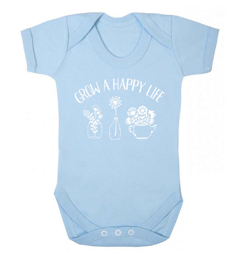 Grow a happy life Baby Vest pale blue 18-24 months