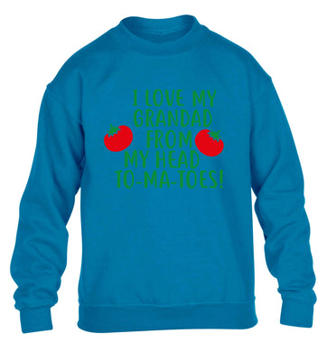 baby I love my grandad from my head toddler t-shirt family Father/'s Day  5573