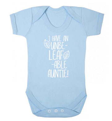 I have an unbe-leaf-able auntie Baby Vest pale blue 18-24 months