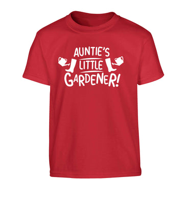 Auntie's little gardener Children's red Tshirt 12-13 Years