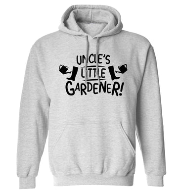 Uncle's little gardener adults unisex grey hoodie 2XL