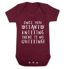 Once you start knitting there is no quitting! Baby Vest maroon 18-24 months