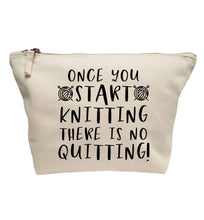 Once you start knitting there is no quitting! | makeup / wash bag