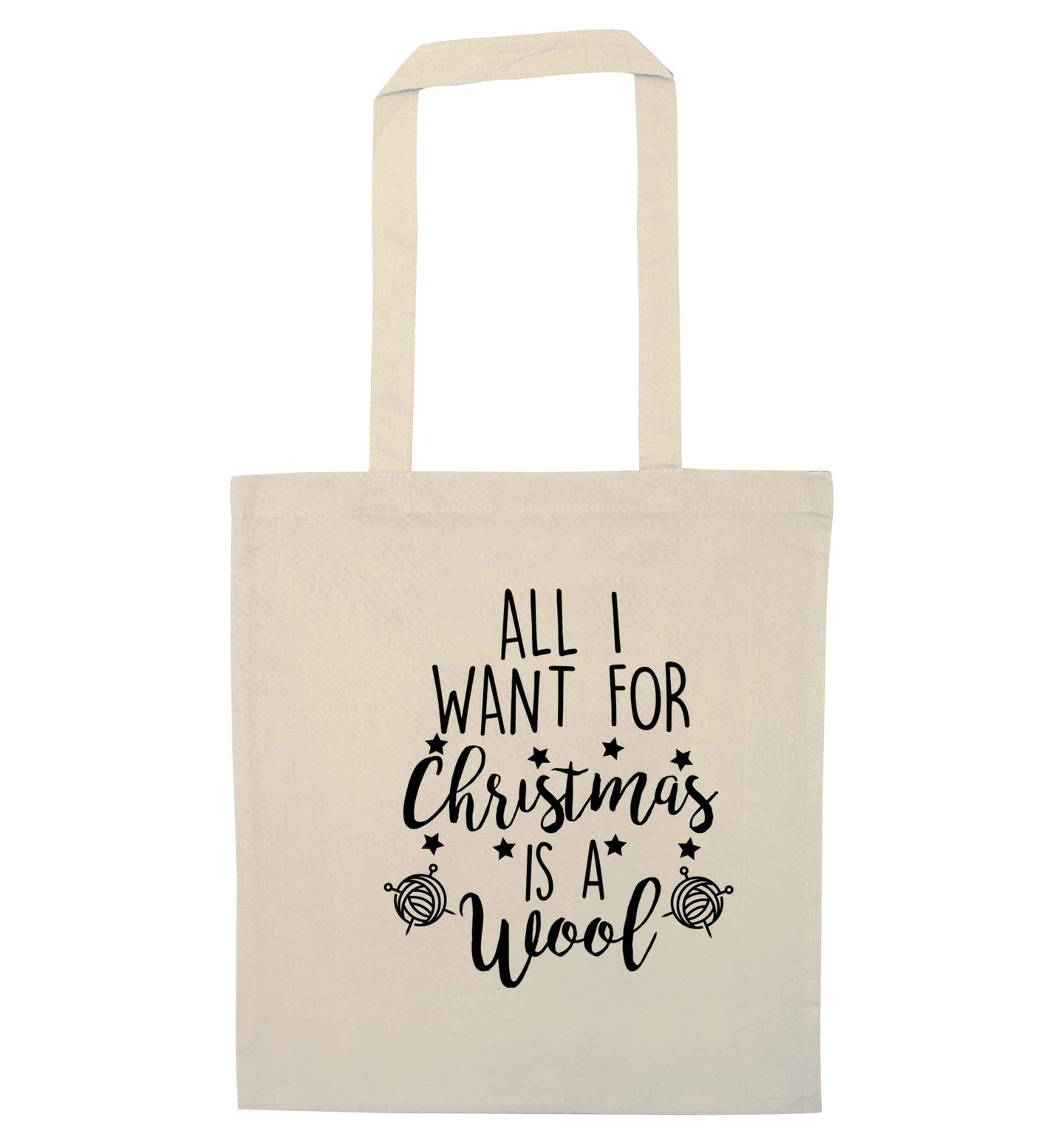 All I want for Christmas is wool! natural tote bag
