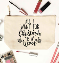 All I want for Christmas is wool! natural makeup bag