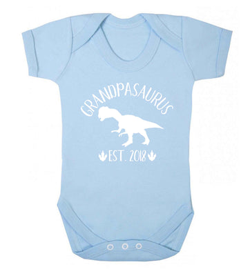 Personalised grandpasaurus since (custom date) Baby Vest pale blue 18-24 months