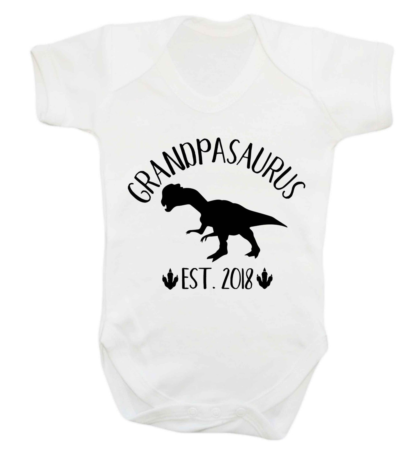 Personalised grandpasaurus since (custom date) Baby Vest white 18-24 months
