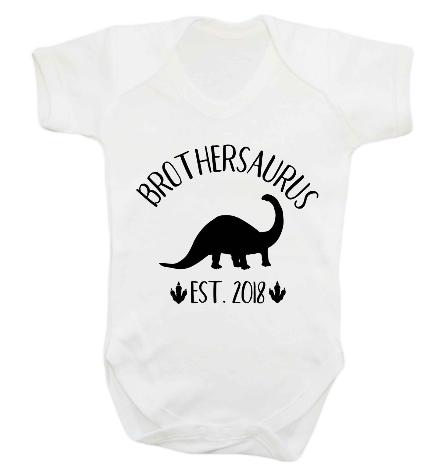 Personalised brothersaurus since (custom date) Baby Vest white 18-24 months